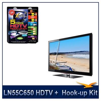 LN55C650 - 55` 1080p 120Hz LCD HDTV + High performance Hook-Up