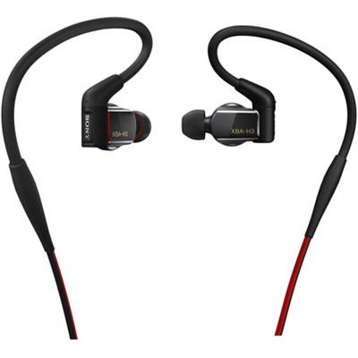 Hybrid, 3-way, In-Ear Headphones (Black) - XBA-H3 - OPEN BOX