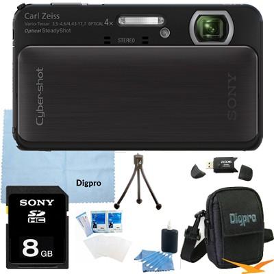 Cyber-shot DSC-TX20 16.2 MP Waterproof Shockproof Camera (Black) 8GB Bundle