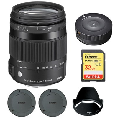 18-200mm F3.5-6.3 DC Macro OS HSM Lens for Pentax SLR's w/ USB Dock Bundle