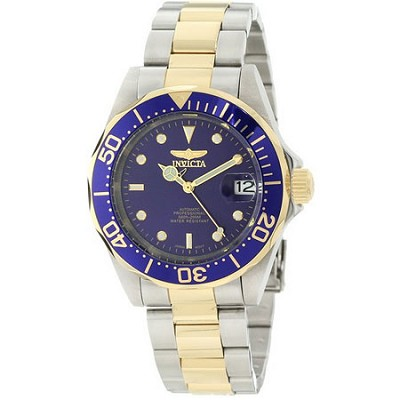 Men's Pro Diver 40mm Stainless Steel Gold Plated Blue Dial NH35A Automatic 8928