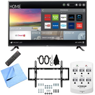 42LF5800 - 42-Inch Full HD 1080p 60Hz Smart LED HDTV Tilt Mount & Hook-Up Bundle