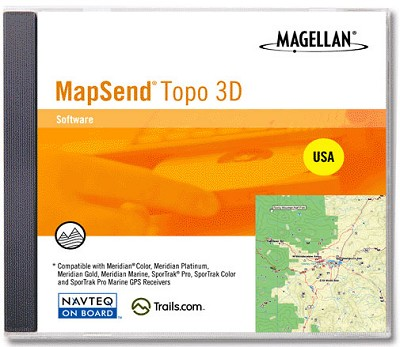 MapSend 3-D Topo Software for USA
