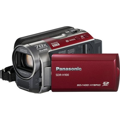 SDR-H100/R 80GB Hard Drive Red Camcorder- OPEN BOX