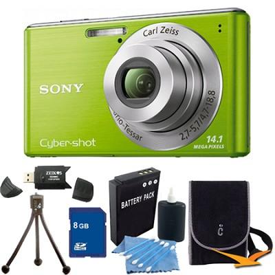 Cyber-shot DSC-W530 Green Digital Camera 8GB Bundle