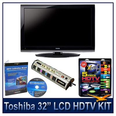32E200U 32` 1080p LCD HDTV + Hook-Up + Power Protection + Calibration DVD