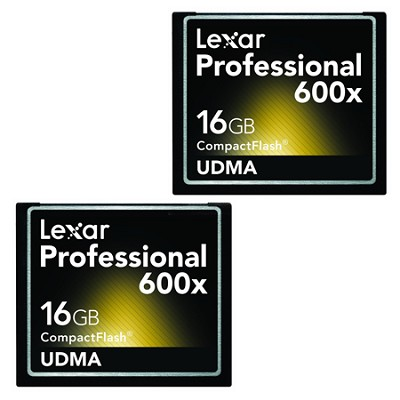 LCF16GCTBNA6002 - Compact Flash 2-PK 16GB 600X