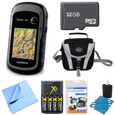010-01508-10 - eTrex 30x Handheld GPS 32GB Micro SD Memory Card Bundle