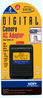 AC ADAPTER F/ SONY S & C SERIES BATTERIES - REPLACES ACLS1