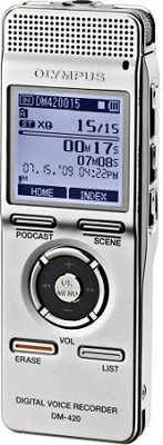 DM-420 Digital Voice Recorder with MP3 Player