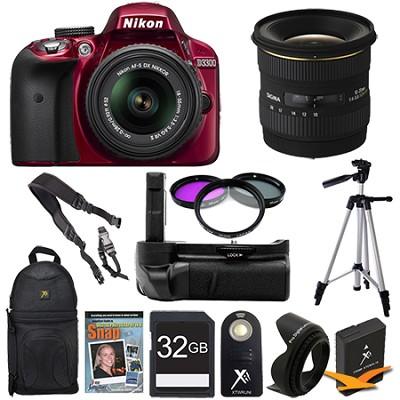 D3300 DSLR HD Red Camera Landscape Photographer Bundle