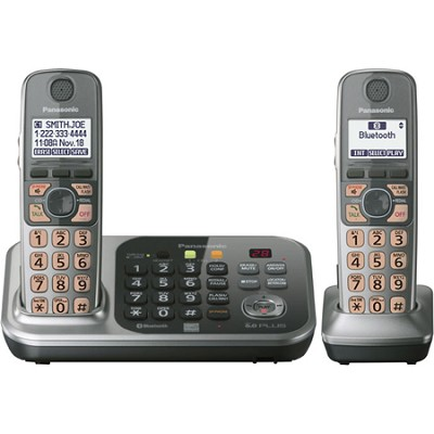 KX-TG7742S Dect 6.0 2-Handset Landline Telephone