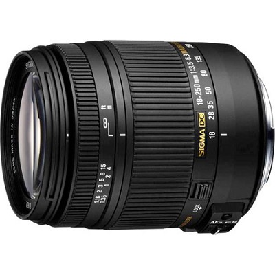 18-250mm F3.5-6.3 DC OS Macro HSM Lens for Nikon AF- OPEN BOX