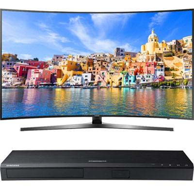 65` KU7500 Curved 4K UHD Smart LED TV + Samsung UBDK8500 4K UHD Blu-Ray Player