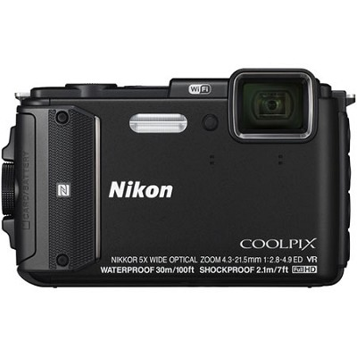 COOLPIX AW130 16MP 1080p Waterproof Shockproof Freezeproof Black Digital Camera