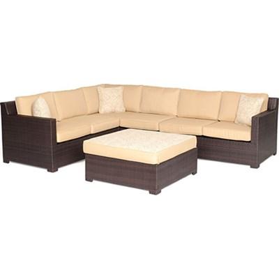 Metropolitan 5pc Seating Set (Loveseat chair ottoman corner chair)