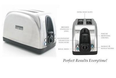 RJ06 2-Slice Stainless-Steel Toaster