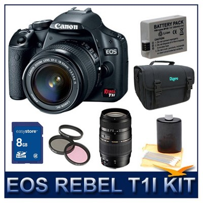 EOS Rebel T1i EF-S 18-55mm IS Advanced Pro photo kit
