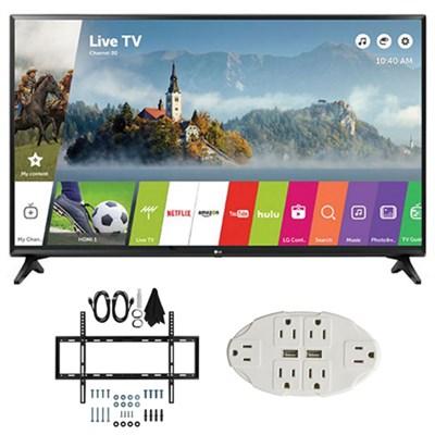 LJ550B Series 32` Class Smart LED HDTV (2017 Model) w/ Wall Mount Bundle
