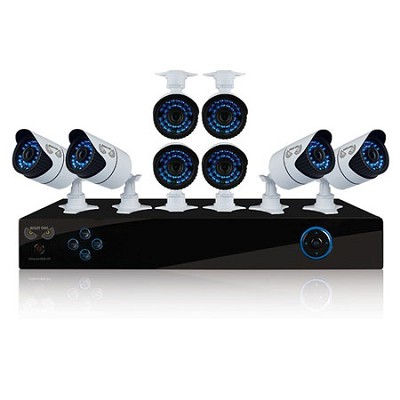 8 Channel Security System, 2TB HDD, 8 Hi-Res 900 TVL Cameras, Night Owl Pro App
