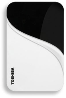 320 GB USB 2.0 Portable External Hard Drive in Vivid White - HDDR320E04XW