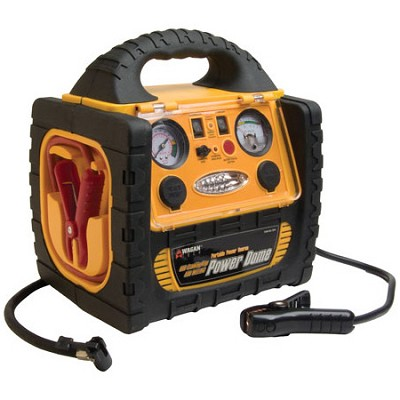 400-Watt Power Dome Jump Starter w/ Built-In Air Compressor & LED Utility Light