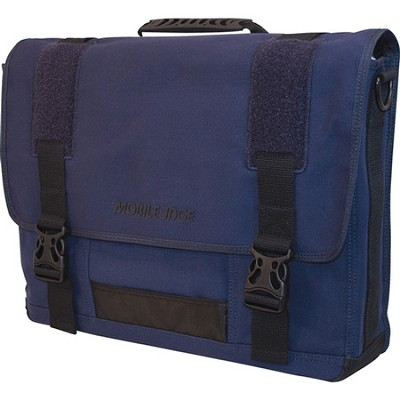 Eco-Friendly Cotton Canvas Navy 17.3` Notebook Messenger Bag