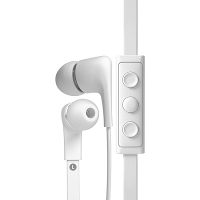 T00097 a-JAYS Five Earphones with 3-Button Remote and Mic for Windows - White
