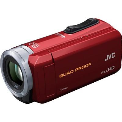 GZ-R10R Quad Proof Red 2.5 MP 40x Dynamic Zoom 60x Digital Zoom HD Camcorder