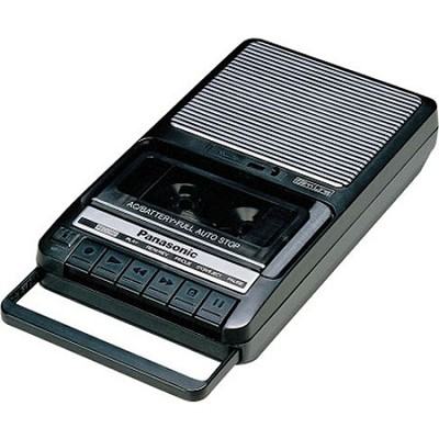 RQ-2102 Shoebox-Style Cassette Tape Recorder