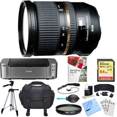 SP 24-70mm f2.8 Di VC USD Lens for Nikon Mount Dual Mail in Rebate Bundle
