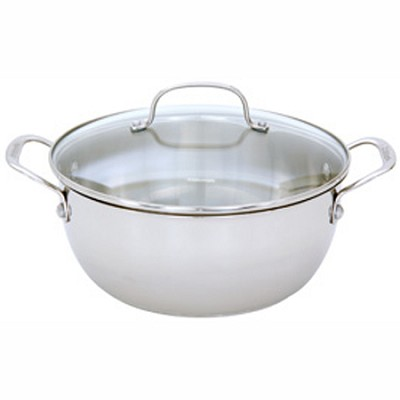755-26GD - Chef's Classic Stainless 5-1/2-Quart Multi-Purpose Pot w/ Glass Cover