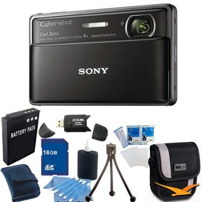 Cyber-shot DSC-TX100V Black Digital Camera 16GB bundle