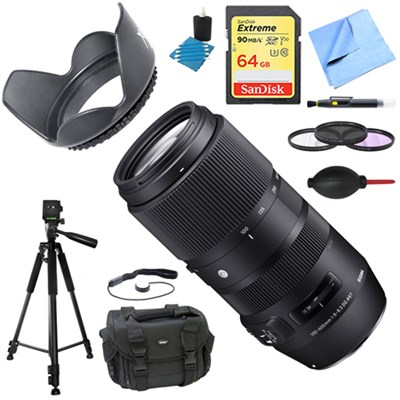 100-400mm F5-6.3 DG OS HSM Telephoto Lens (Sigma) Deluxe Accessory Bundle