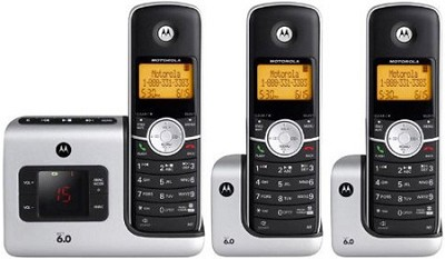 L403 DECT 6.0 Cordless Phone with 3 Handsets
