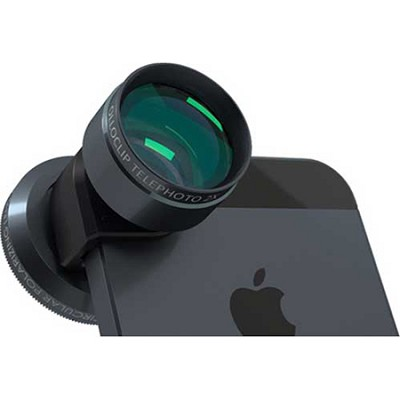 Telephoto Lens + Circular Polarizer for iPhone 5/5S, Black