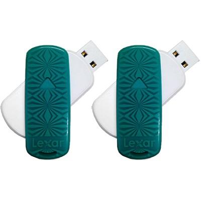16 GB JumpDrive S33 USB 3.0 Flash Drive (Teal- Kaleidoscope) 2-Pack (32GB Total)