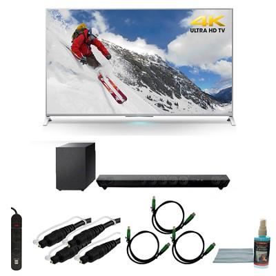 XBR-65X800B 65-inch 4K Ultra HD Smart LED TV Motionflow HT-ST5 Sound Bar Bundle