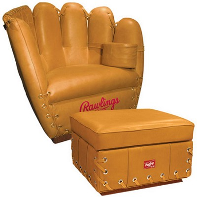 Premium Heart of the Hide Leather Glove Chair with Ottoman (Tan)