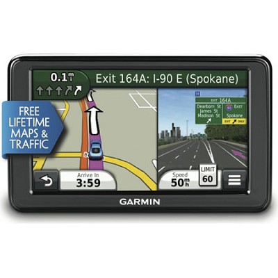 nuvi 2555LMT 5` GPS Navigation System with Lifetime Map and Traffic Updates
