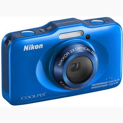 COOLPIX S31 10.1MP 720p HD Video Waterproof Digital Camera - Blue