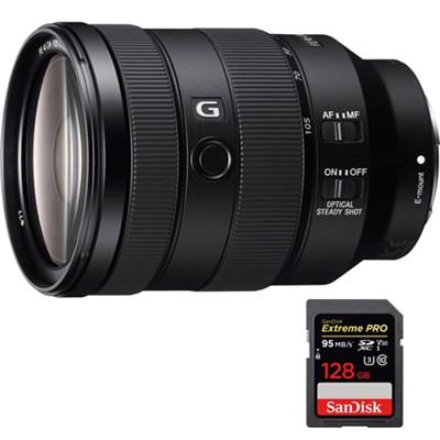 FE 24-105mm F4 G OSS E-Mount Full-Frame Zoom Lens with 128GB Memory Card