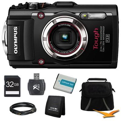 TG-3 16MP 1080p HD Shockproof Waterproof Digital Camera Black Ultimate Kit