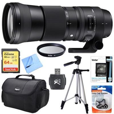 150-600mm F5-6.3 DG OS HSM Zoom Lens (Contemporary) for Canon Mount Bundle