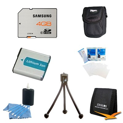 Essential 4GB Card and BP-70A Battery Kit for Samsung ST76
