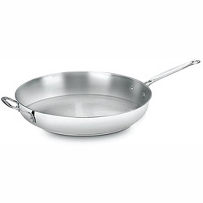 722-36H - Chef's Classic Stainless 14-Inch Open Skillet with Helper Handle