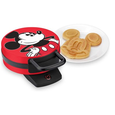 Mickey Mouse Waffle Maker, Red (DCM-12)