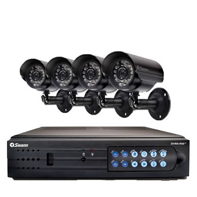 DVR4-950 Digital Video Recorder with 4 PRO-555 Day/Night Security Cameras