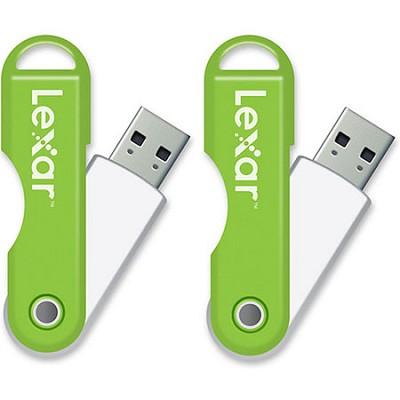 JumpDrive TwistTurn 16 GB High Speed USB Flash Drive 2-Pack