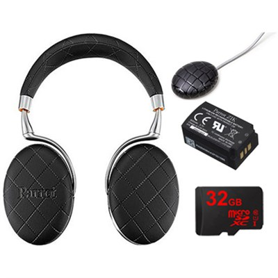 Zik 3 Wireless Noise Cancelling Headphones Ultimate Bundle (Black Overstitched)
